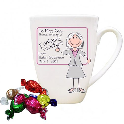Personalised Pink Teachers Whiteboard Mug - Product number 1447998