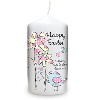 Personalised Daffodil And Floral Easter Chick Candle - Product number 1448269