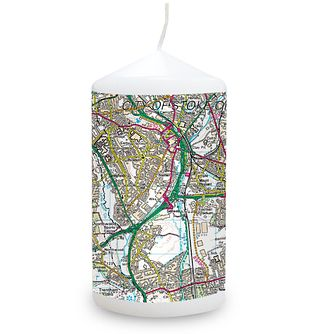 Personalised Present Day Map Candle - Product number 1448471