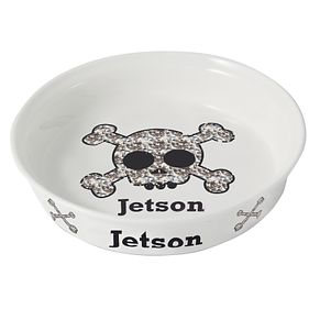 Personalised Bling Skull Pet Bowl - Product number 1448684