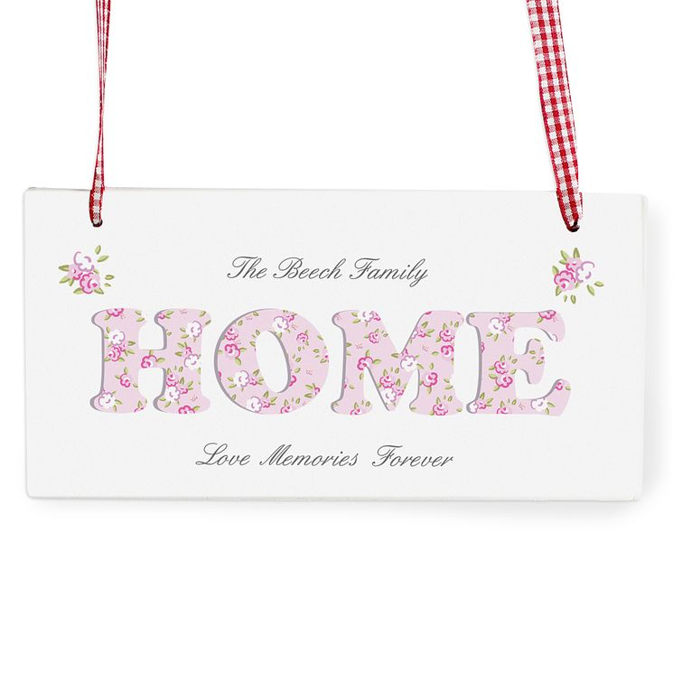 Personalised Floral Design Home Wooden Sign - Product number 1448714