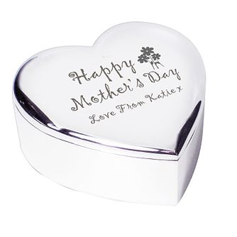 Engraved Mothers Day Heart Trinket Box - Product number 1448757