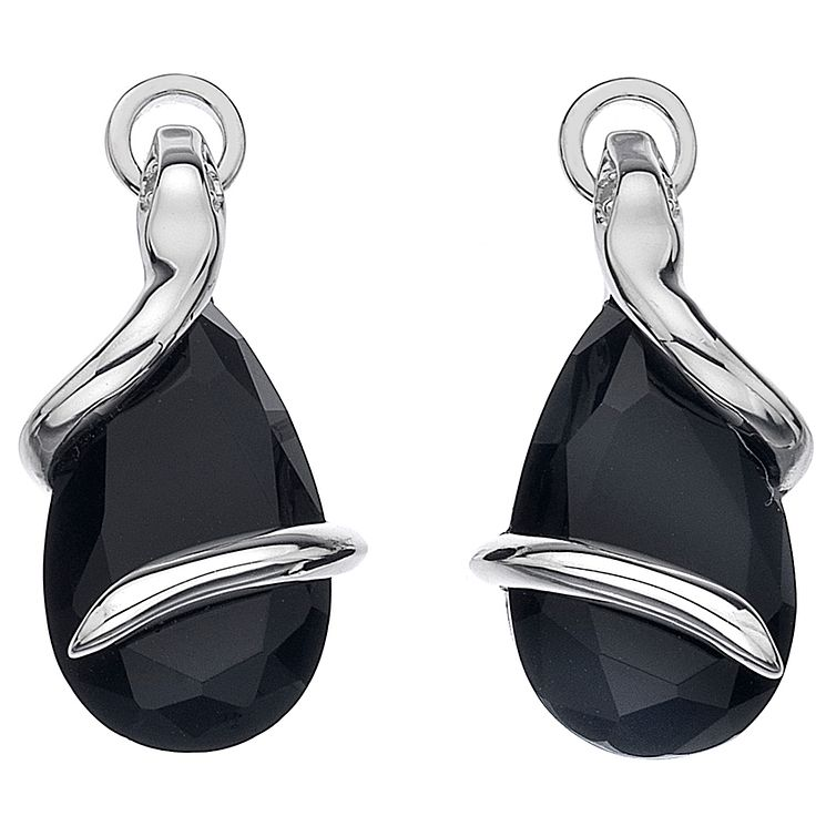 Hot Diamonds Veleno Sterling Silver Black Drop Earrings - Product number 1449524