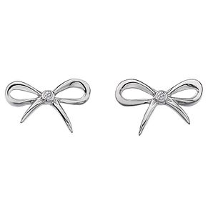 Hot Diamonds Flourish Sterling Silver Diamond Earrings - Product number 1449583