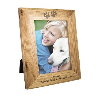 Personalised Paw Print 5x7 Oak Photograph Frame - Product number 1450158