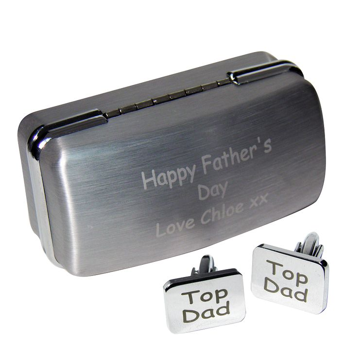 Personalised Top Dad Cufflinks & Case - Product number 1450220
