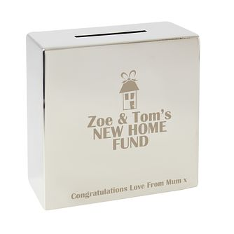 Engraved New Home Fund Money Box - Product number 1450379