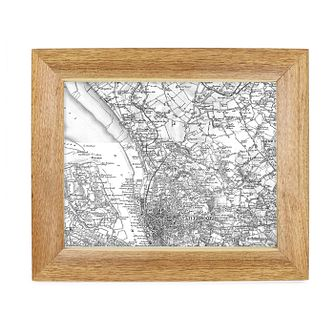 Personalised Postcode Map 10x8 Frame - Old Series - Product number 1450425