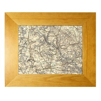 Personalised Postcode Map 10x8 Frame - Revised New - Product number 1450492