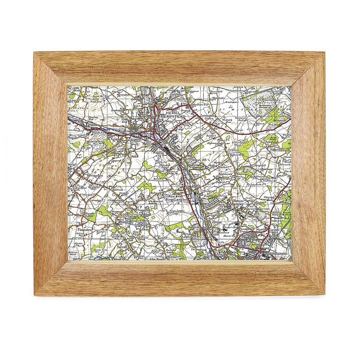 Personalised Postcode Map 10x8 Frame - New Popular Edition - Product number 1450530