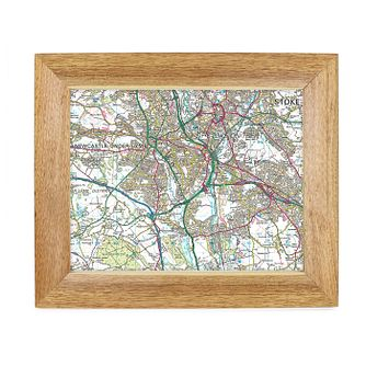 Personalised Postcode Map 10x8 Frame - Present Day - Product number 1450549