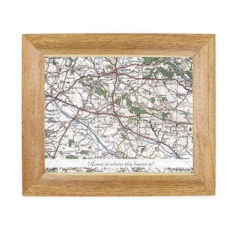 Personalised Popular Postcode Map 10x8 Frame - Product number 1450573