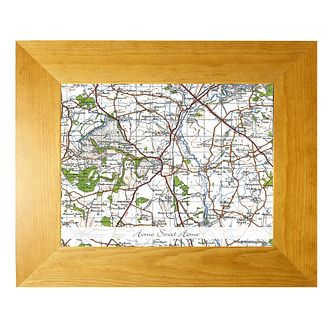 Personalised New Popular 10x8 Postcode Map - Product number 1450646