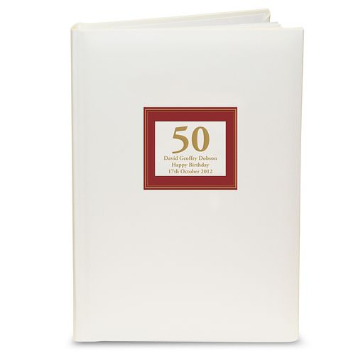 Personalised Red Square Photograph Album - Product number 1450700
