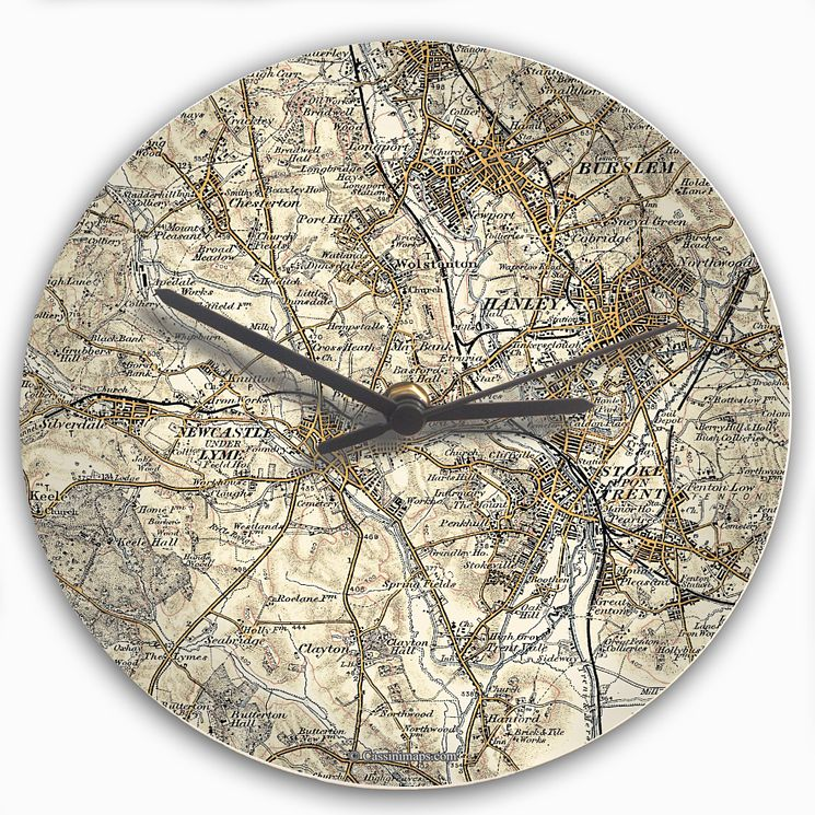 Personalised 1896-1904 Map Clock - Product number 1450727