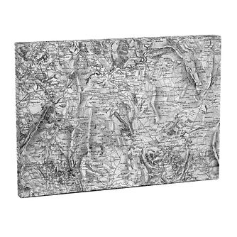 Personalised 1805 - 1874 Old Series Large Postcode Canvas - Product number 1450964