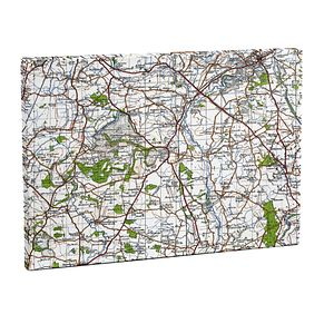 Personalised 1945 - 1948 New Edition Large Postcode Canvas - Product number 1450980