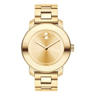 Movado Bold ladies' gold plated bracelet watch - Product number 1452320