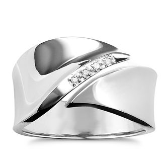 Hot Diamonds Sterling Silver Ring Size P - Product number 1456695