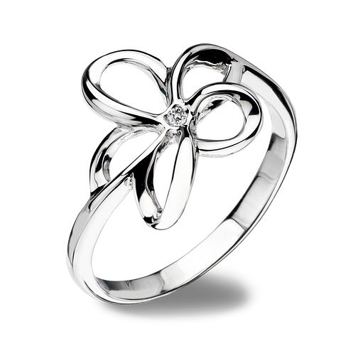 Hot Diamonds Sterling Silver Ring Size L - Product number 1457845