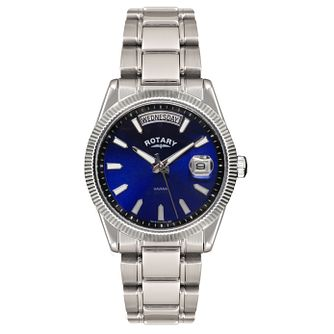 Rotary men's blue dial stainless steel bracelet watch - Product number 1458078