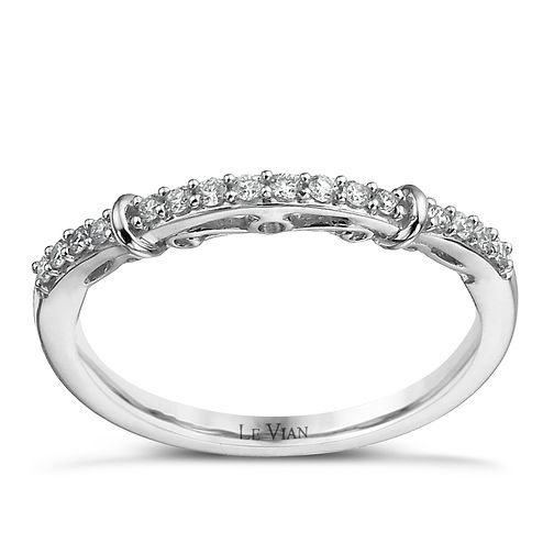Le Vian 14ct Vanilla Gold 15 point diamond wedding band - Product number 1460447