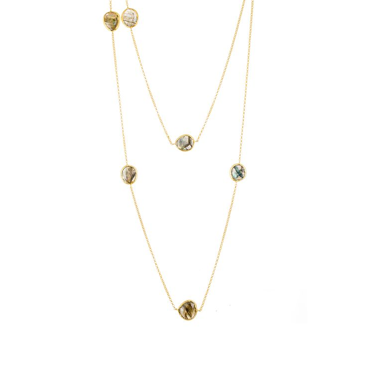 Gaia Gold-Plated Labradorite Long Necklace - Product number 1470280