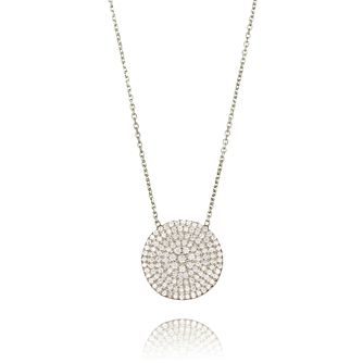Gaia Sterling Silver Cubic Zirconia Circle Necklace - Product number 1470604