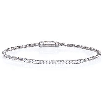 Gaia Sterling Silver Cubic Zirconia Bangle - Product number 1471368