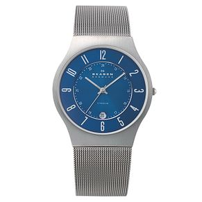 Skagen Grenen Men's Titanium Mesh Bracelet Watch - Product number 1476505