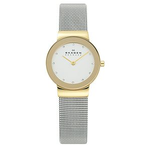 Skagen Freja Ladies' Two Colour Mesh Bracelet Watch - Product number 1476726