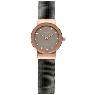 Skagen Freja Ladies' Rose Gold Tone Mesh Bracelet Watch - Product number 1476750