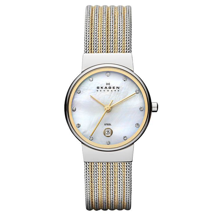 Skagen Ancher Ladies' Two Colour Mesh Bracelet Watch - Product number 1476866