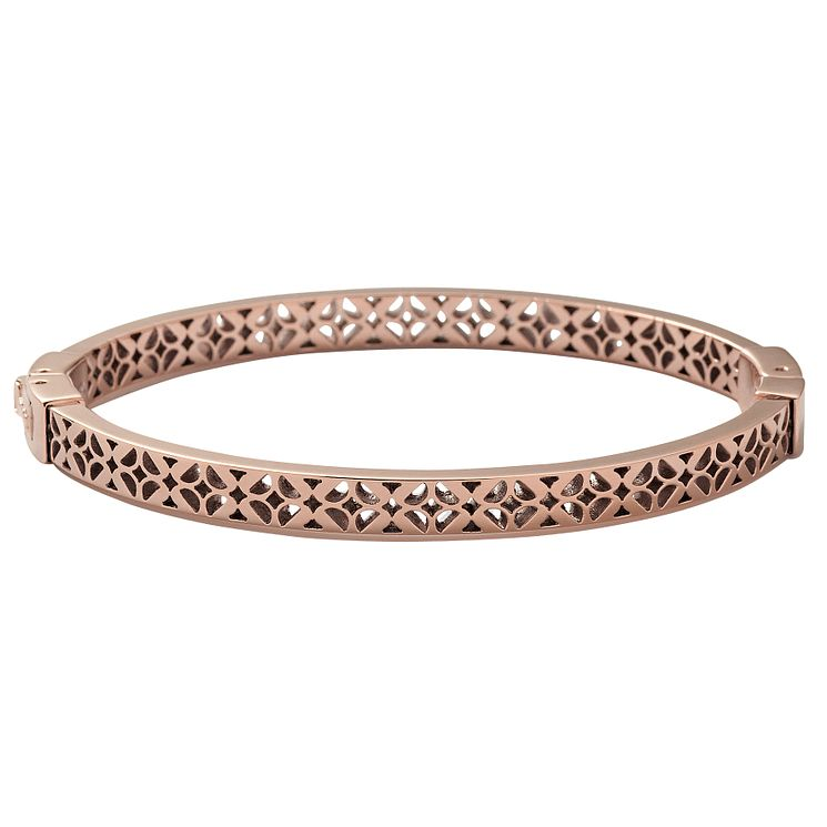 Fossil rose gold-plated cut out bangle - Product number 1478575