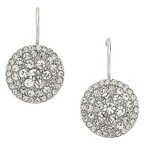 Fossil stainless steel pave crystal drop earrings - Product number 1478656