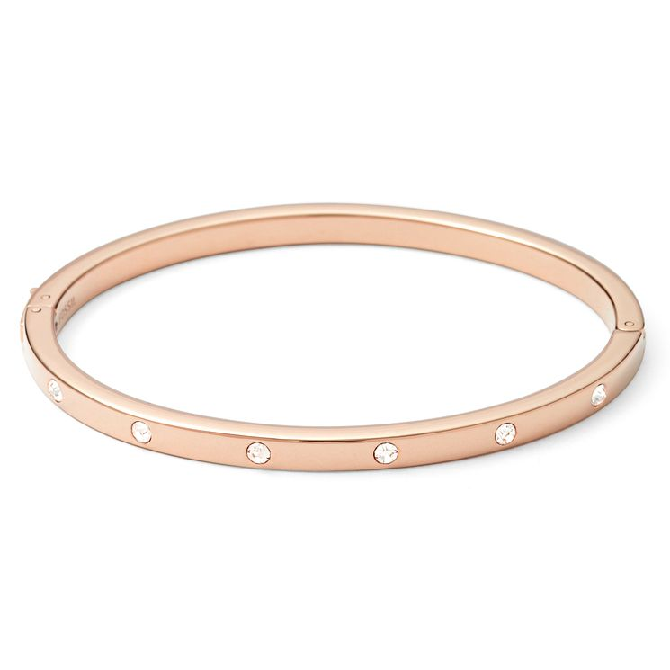 Fossil rose gold-plated stone set bangle - Product number 1478796