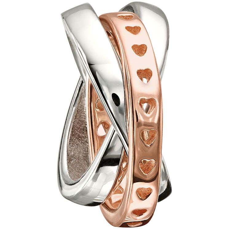 Chamilia sterling silver & rose gold-plated rings bead - Product number 1479563