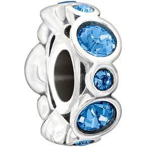 Chamilia sterling silver crystal December birthstone bead - Product number 1479660