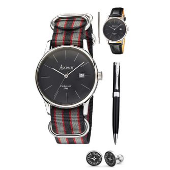 Accurist Men's Vintage Watch, Strap, Pen & Cufflink Set - Product number 1479768