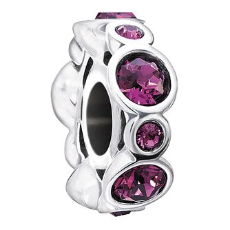 Chamilia Sterling Silver Crystal February Birthstone Charm - Product number 1485377