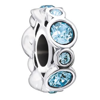 Chamilia Sterling Silver Crystal March Birthstone Charm - Product number 1485407