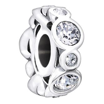 Chamilia Sterling Silver Crystal April Birthstone Charm - Product number 1485636
