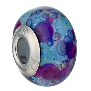 Charmed Memories Sterling Silver Purple Murano Glass Bead - Product number 1487906