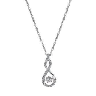 Diamond necklaces diamond pendants ernest jones diamonds in rhythm silver 10pt diamond figure of 8 pendant product number 1526251 mozeypictures Images