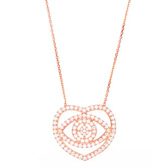 Gaia Rose Gold-Plated Evil Eye Necklace - Product number 1589881