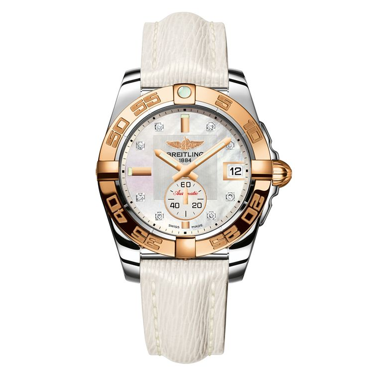 Breitling Galactic 36 ladies' white leather strap watch - Product number 1591754