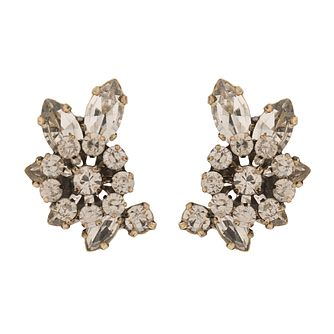 Martine Wester Stargazer Crescent Crystal Stud Earrings - Product number 1592602