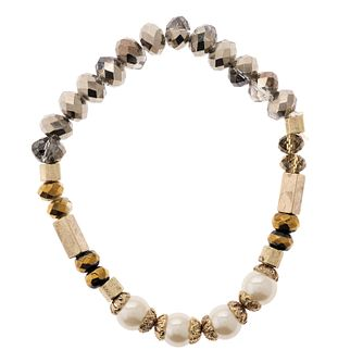Martine Wester Stargazer Pearl & Beaded Stretch Bracelet - Product number 1592688