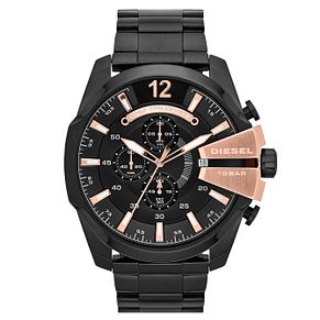 Diesel Mega Chief Men's Black Stainless Steel Bracelet Watch - Product number 1597663