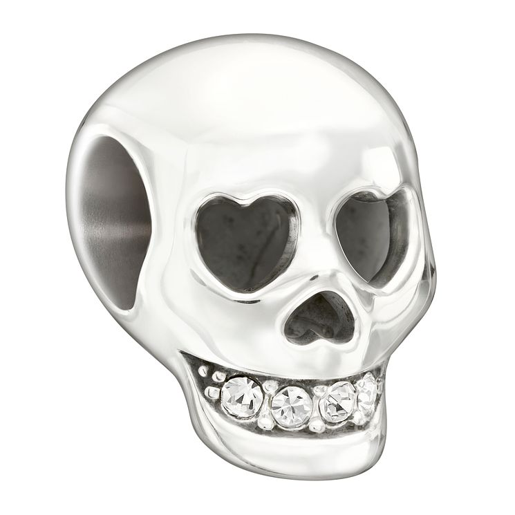 Chamilia Sterling Silver Crystal Skull Bead - Product number 1599917